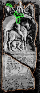 Longinus Tombstone, with Outline & Missing Parts