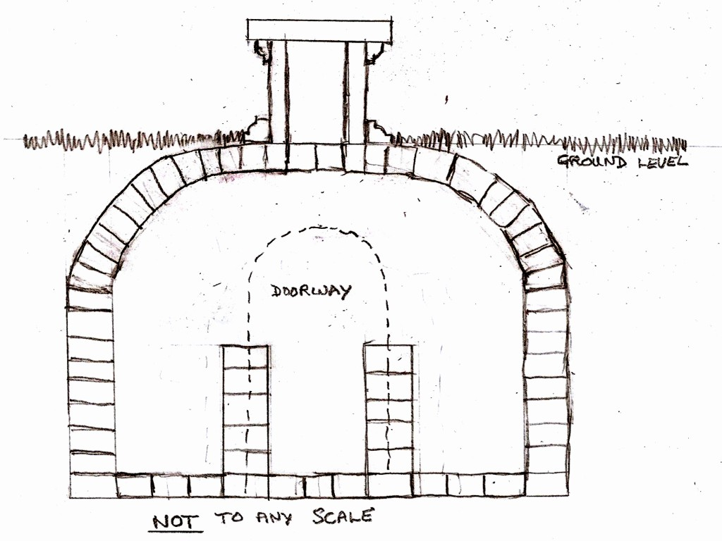 Sketch plan of Vault at Peldon