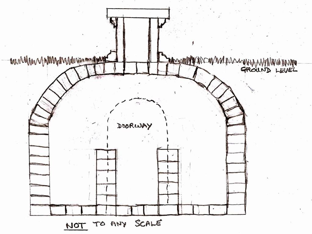 Sketch plan of Vault at Peldon