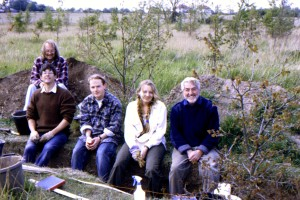 1995 May 19th Mike Matthews, Jonathan Oldham, James Fawn & students Great Tey Roman Road