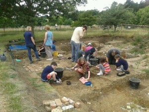 Colchester Young Archaeologists visit to Marks Hall
