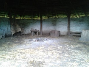 Interior of Bronze Age roundhouse