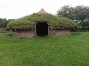 Flag Fen; reconstructed Bronze Age roundhouse