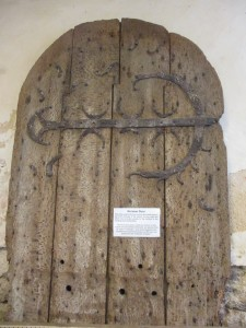 12th century wooden door in Elmstead Church