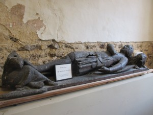 14th century wooden effigy in Elmstead Church