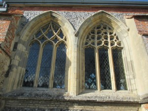 14th century traceried windows, Lawford Church